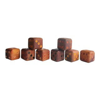 Mid-Century Wooden Dice - Collection of 8