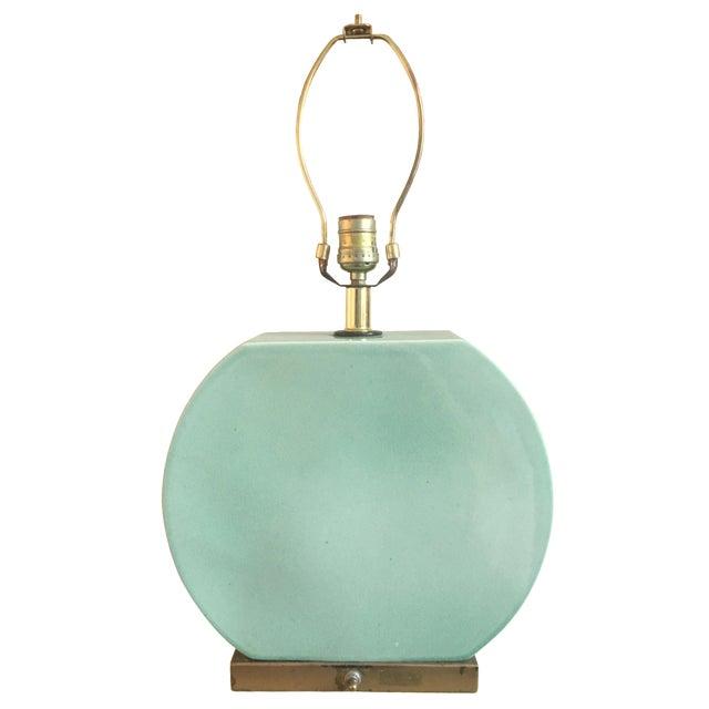 Mid-Century Lamp in Seafoam - Image 1 of 9