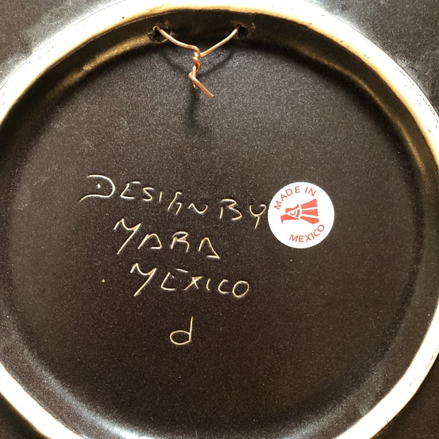 Mid-Century Modern Vintage Mexican Signed Asymmetrical Face Hanging Plate For Sale - Image 3 of 4