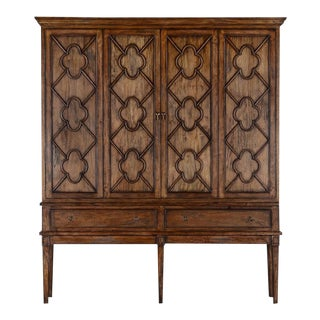WILCOX ESTATE TV Cabinet Rustic Pecan Solid Wood For Sale