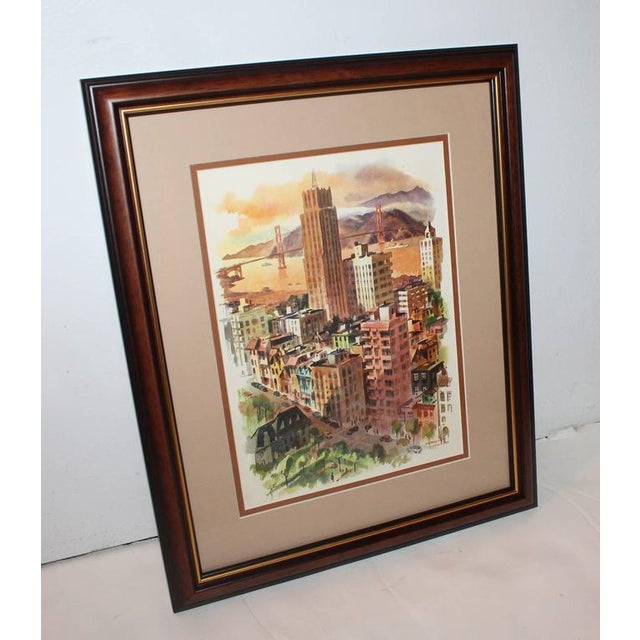 This watercolor painting is newly framed and is one of two by the same artist in our gallery. The second one is also...