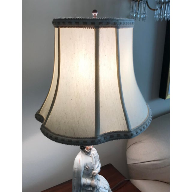 Antique Staffordshire Figure Bagpiper/Dog Lamp With Shade For Sale - Image 9 of 12