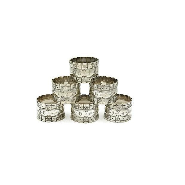 English Officers Numbered Napkin Rings - Set of 6 - Image 3 of 3