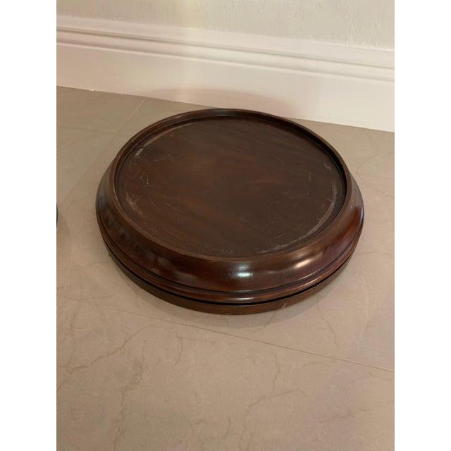 Antique Theodore Alexander Ming Design White Ginger Jar on Wood Base For Sale - Image 9 of 11