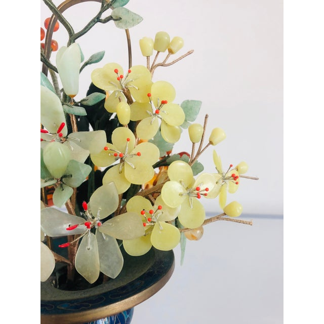Green 1940s Vintage Chinese Mineral Tree Model For Sale - Image 8 of 11