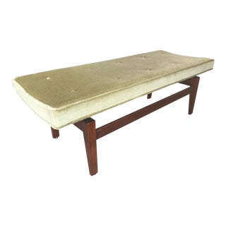 Jens Risom Upholstered Bench For Sale