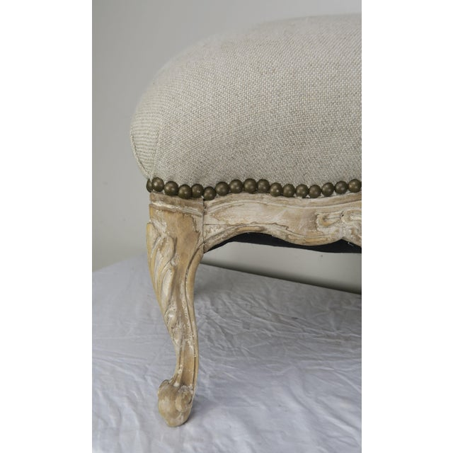 1900 - 1909 French Louis XV Style Linen Bench, Circa 1900 For Sale - Image 5 of 13