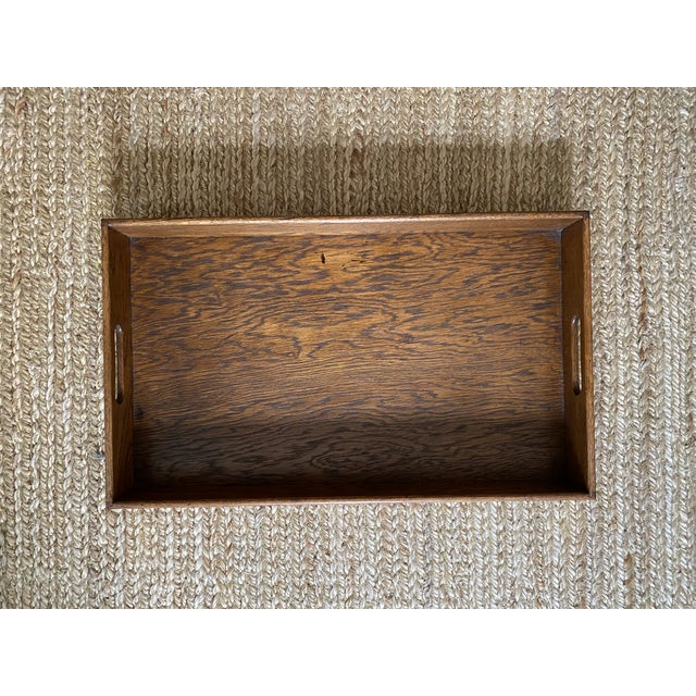 Antique English Oak Folding Butlers Tray Bar For Sale In Jacksonville, FL - Image 6 of 11