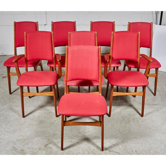 Contemporary 1970s Teak Dining Table & Chairs For Sale - Image 3 of 13