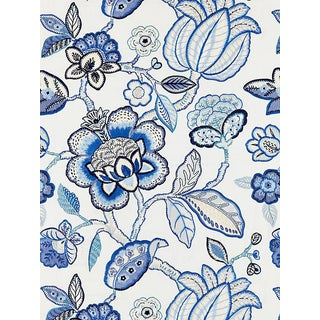 Scalamandre Coromandel Embroidery, Porcelain Fabric For Sale