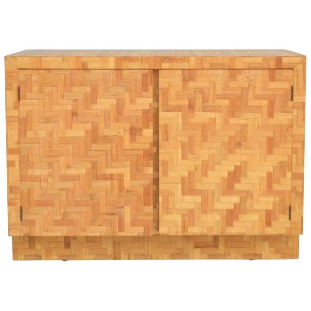 Midcentury Two-Door Rattan Cabinet For Sale - Image 11 of 11