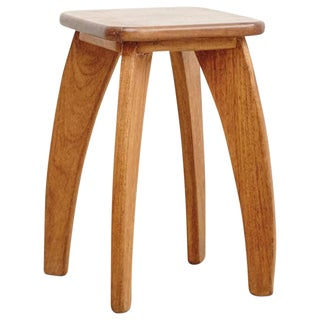 French Wood Stool, circa 1950