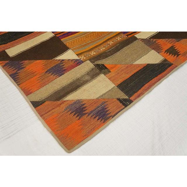 "Turkish Kilim Wool Rug - 6'8"" x 8'6"" For Sale - Image 4 of 5"