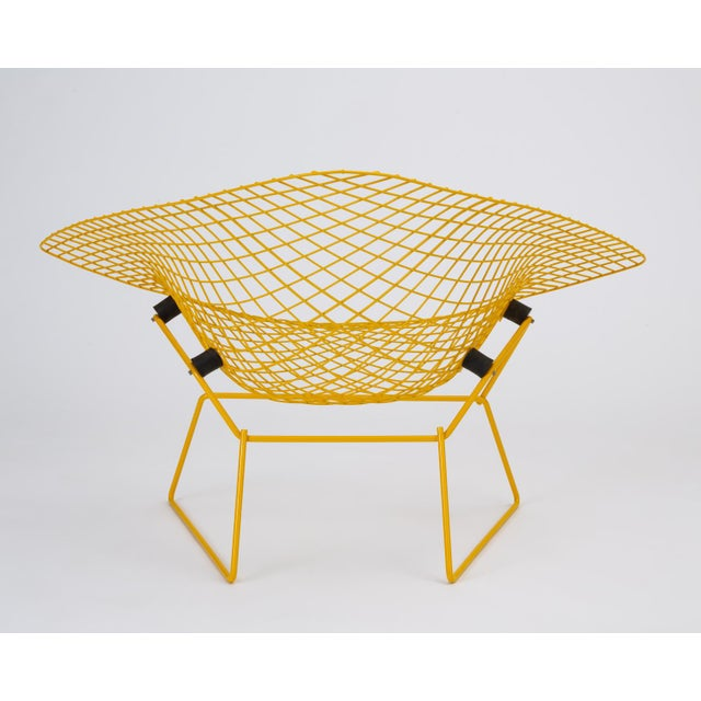Metal Rocking Diamond Chair by Harry Bertoia For Sale - Image 7 of 12
