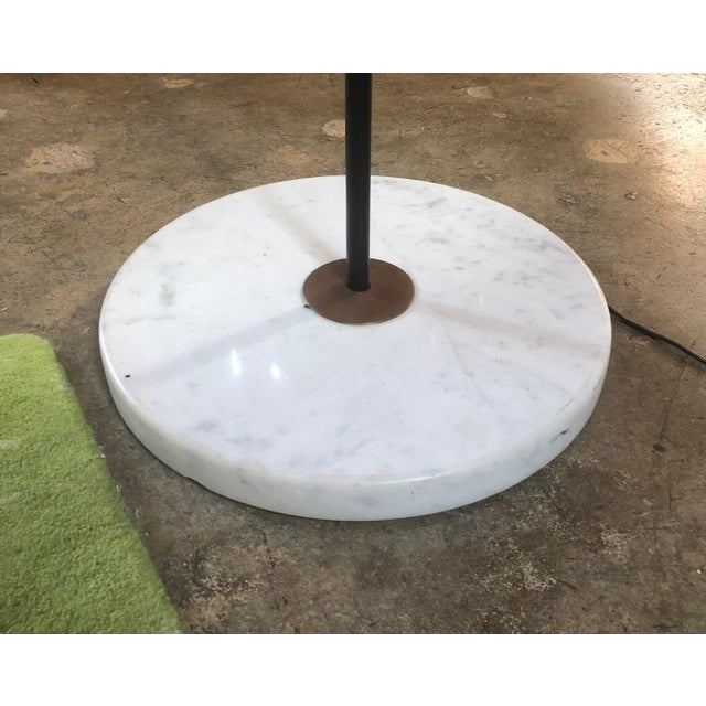 1970s Mid Century Italian Two-Armed Arc Floor Lamp For Sale - Image 9 of 12