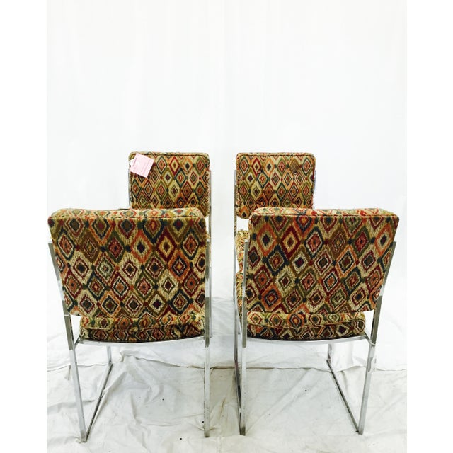Vintage Mid-Century Modern Chrome Frame Chairs - Set of 4 For Sale - Image 7 of 11