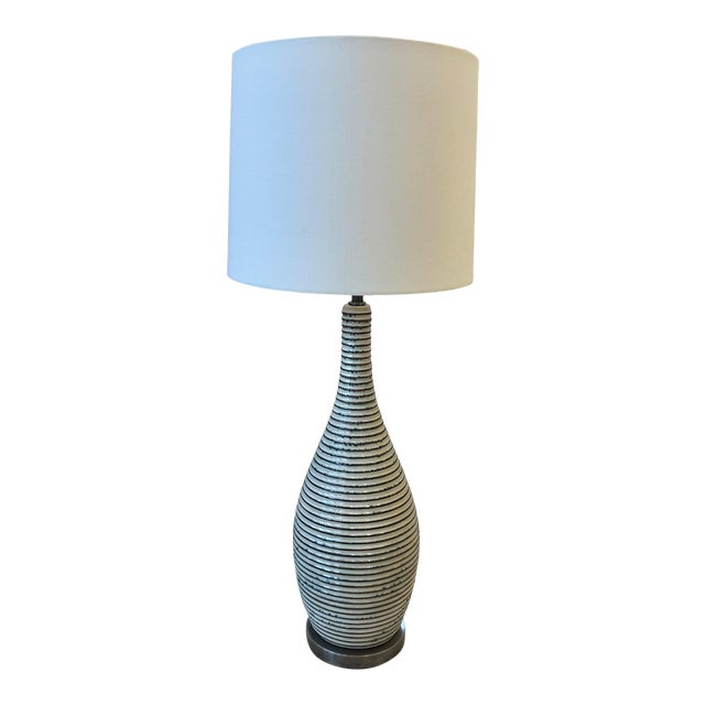 Visual Comfort Ceramic Table Lamp With Shade For Sale