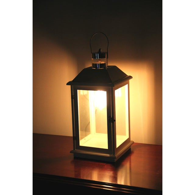 Handmade Electric Lantern Lamp With Edison Bulb - Image 3 of 4