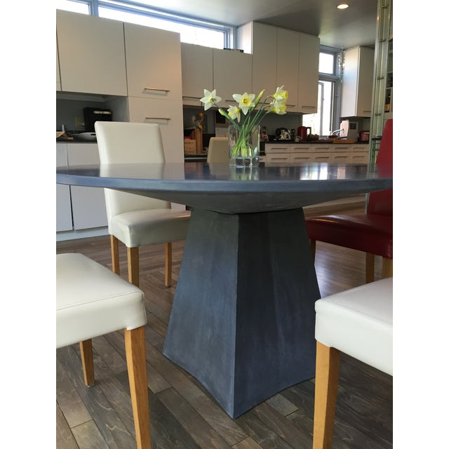 Modern Vasa Concrete Dining Table For Sale - Image 4 of 6