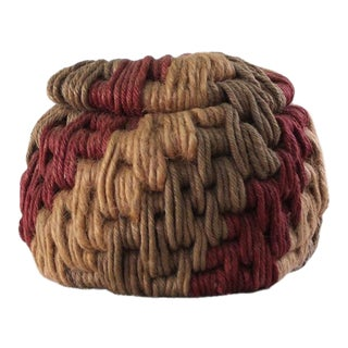 Vintage Ruth Lescohier Coiled Rope Basket For Sale