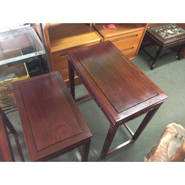 Set of Rosewood Nesting Tables For Sale - Image 4 of 13