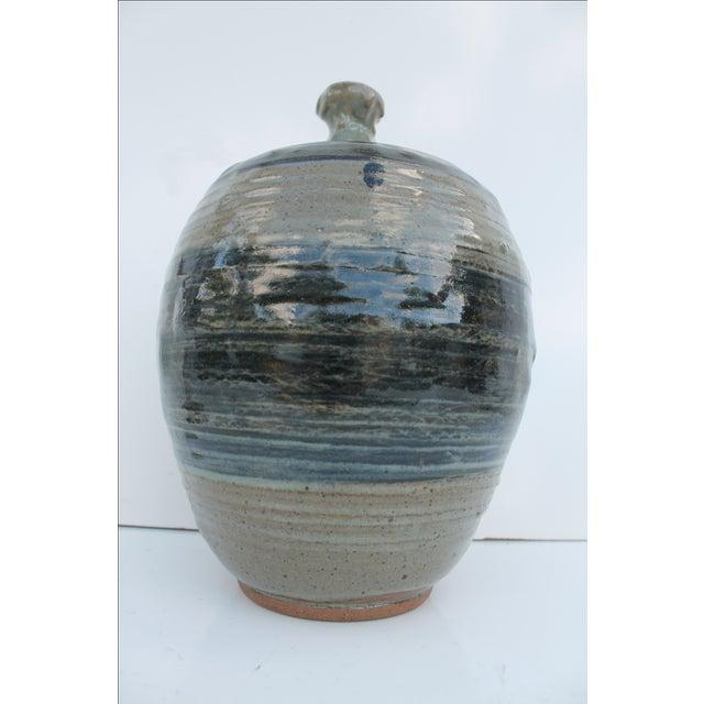 Vintage Green & Blue Glaze Bud Vase - Image 3 of 8