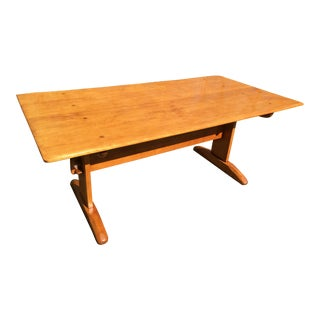 1930s Vintage Cushman Tressle Table From Catalog h.t. Cushman Mfg Co. For Sale
