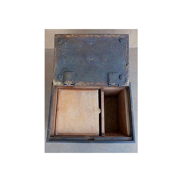 Antique Iron Safe For Sale - Image 9 of 10