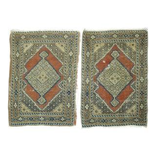 Pair of Persian Tabriz Rug Mats