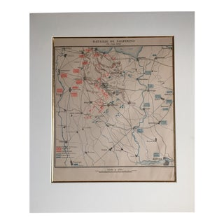1859 Antique French Military Map For Sale