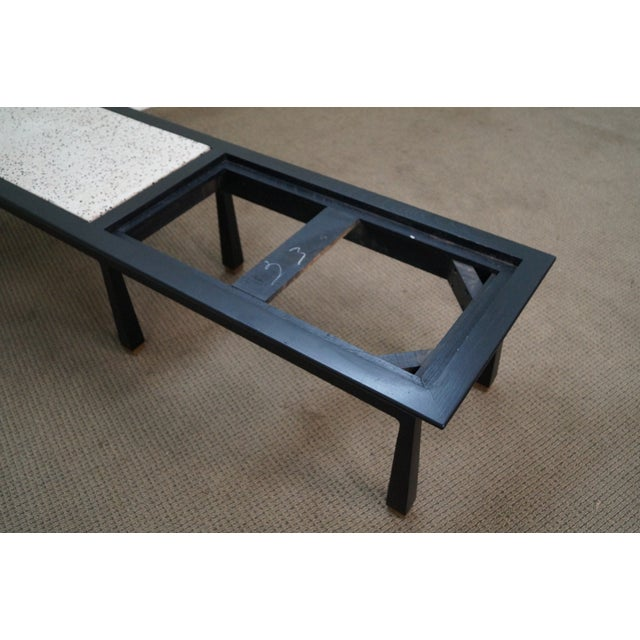 James Mont Mid Century Ebonized Marble Top Table For Sale - Image 10 of 10