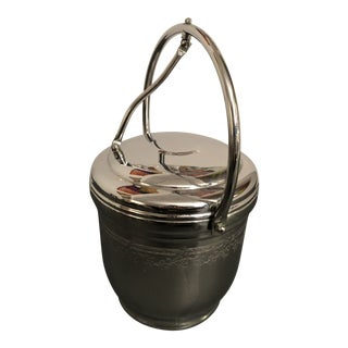 1970s Chromium on Solid Brass Ice Bucket by United For Sale