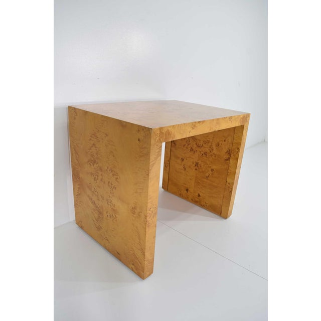 1970s Milo Baughman Burl Wood Side Table For Sale In Dallas - Image 6 of 12