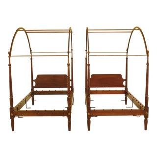Kittinger Colonial Williamsburg Mahogany Twin Beds - a Pair