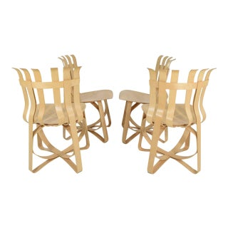 Set of Four Frank Gehry Hat Trick Chairs