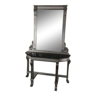 18th Century American Console With Mirror Set, Antique, Vintage Furniture, Victorian, American Style. For Sale