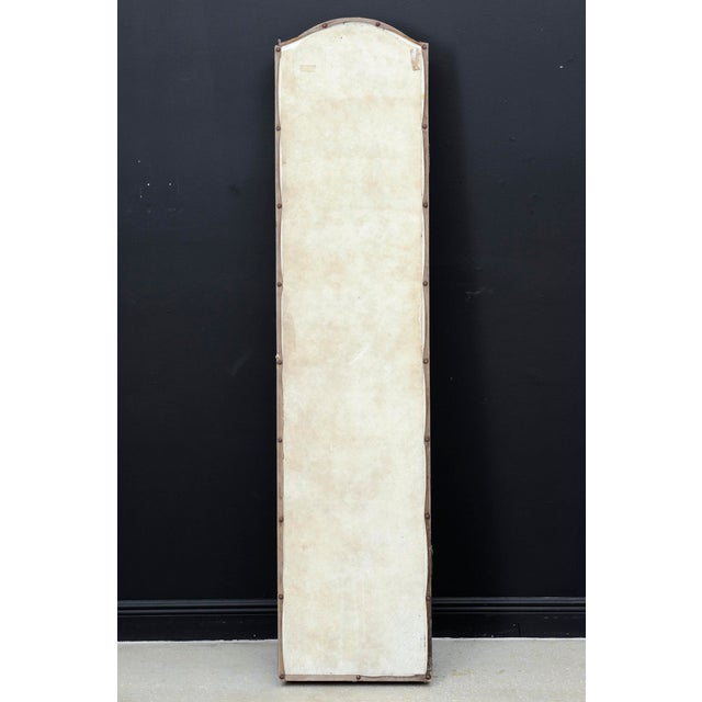 Vintage Chinoiserie Four-Panel Painted Screen on Board For Sale - Image 10 of 11