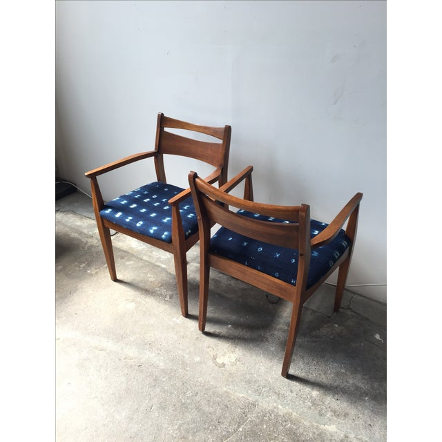 Walnut Mid-Century Dining Chairs - A Pair - Image 4 of 6
