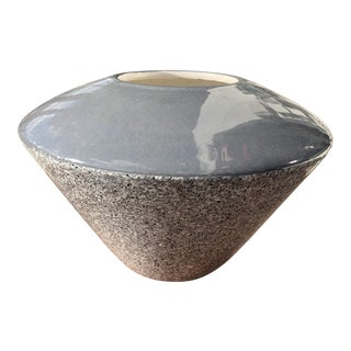 1980s Baldelli Italian Bauhaus New Wave Ceramic Vase For Sale