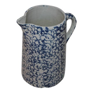 19th Century Spongeware Water Pitcher For Sale