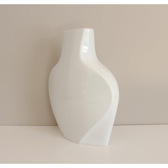 Rosenthal Studio Line White Ceramic Vase Modernist Post Modern - Image 4 of 5