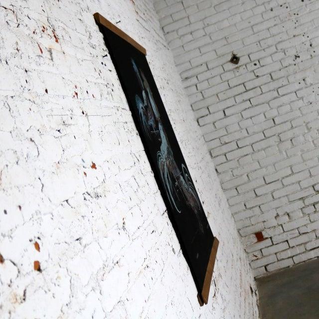 Robert Bushong Silkscreen Wall Scroll Chanticleer for Tom Tru Raymor Mid Century Modern For Sale - Image 6 of 13