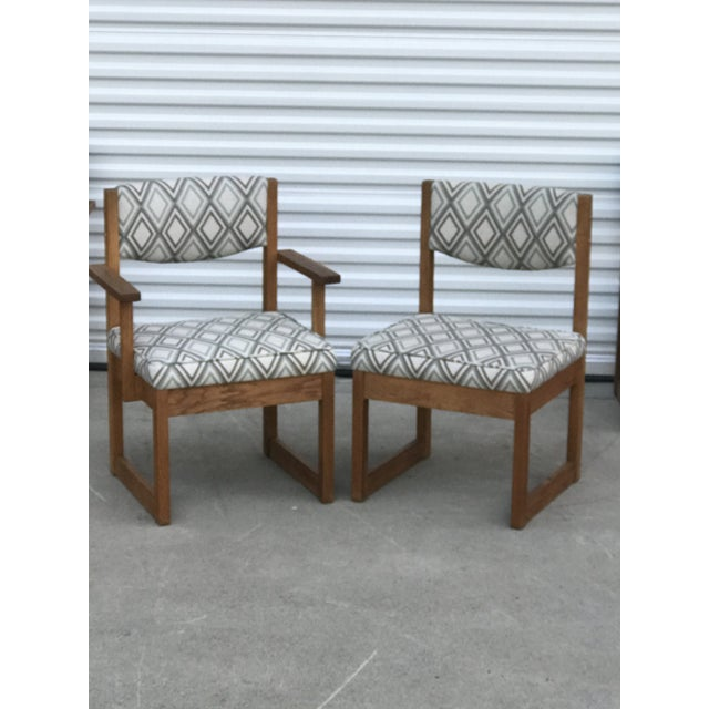 Wood Mid Century Drexel Heritage Dining Chairs- Set of 4 For Sale - Image 7 of 11