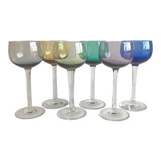 Multi-Color Wine Glasses - Set of 6