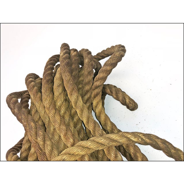 Vintage Nautical Woven Hemp Rope For Sale - Image 9 of 11