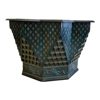 Superb Hand Paint Coffee or Cocktail Star Table From Morocco For Sale