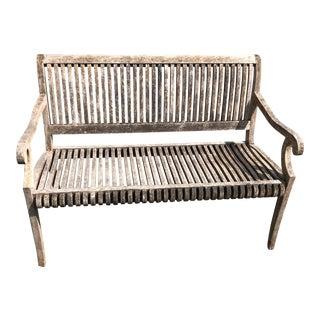 1980s Teak Garden Bench by Smith & Hawkin For Sale