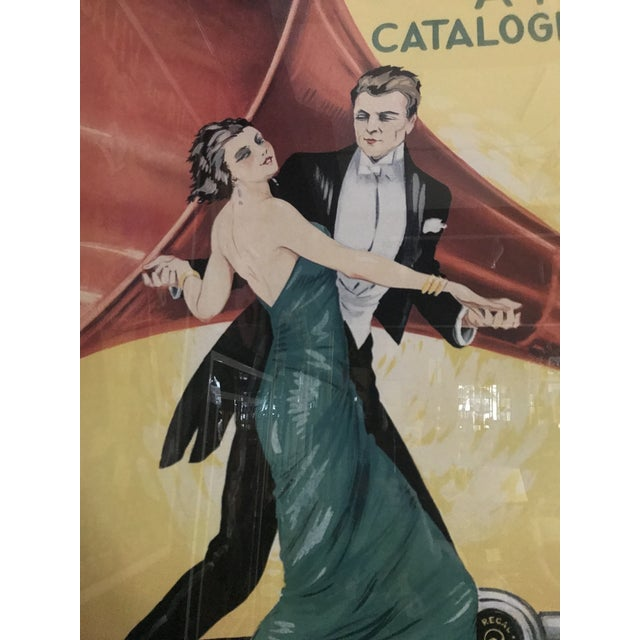 Vintage Grafofoni Columbia Poster - Framed For Sale In Detroit - Image 6 of 9