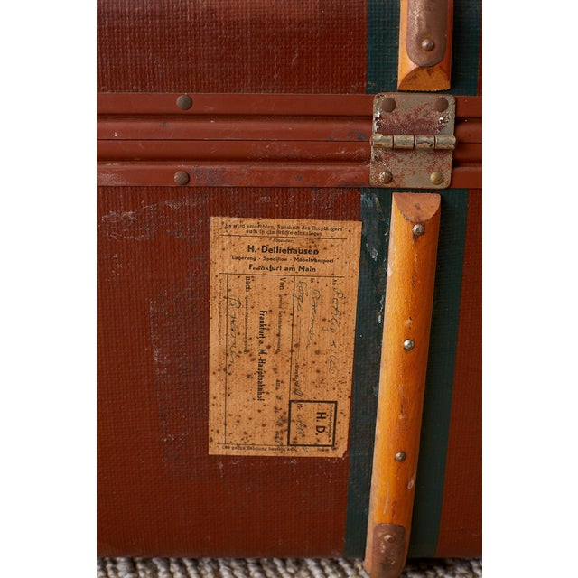 Early 20th Century Painted Steamer Travel Trunk For Sale - Image 10 of 13