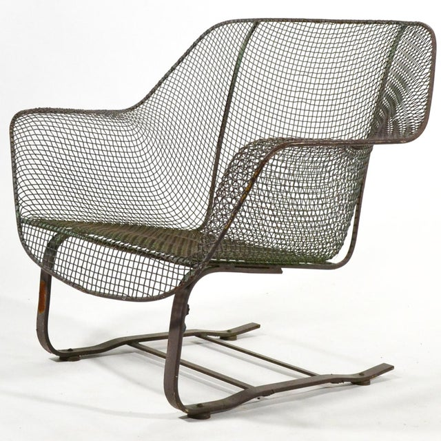 Woodard Sculptura Large Cantilevered Lounge Chair - Image 2 of 7